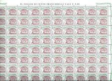 Italia Repubblica - Donna nell'Arte - € 0,10 foglio con errore di stampa varietà