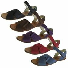 Leather Ankle Strap Solid Sandals & Flip Flops for Women