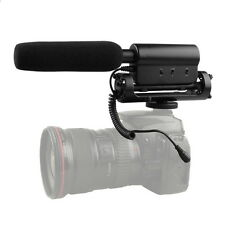 SGC-598 Professional Shotgun DV Stereo Video SLR Camera Microphone Interview Mic