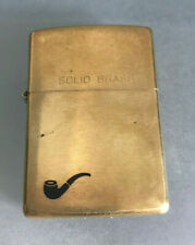 VINTAGE ZIPPO PIPE LIGHTER SOLID BRASS 1932 to 1992