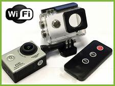 "Pro Hd Impermeable Deportes Acción cam cámara de 1080p 2 ""Pantalla Lcd + Wifi + remoto"