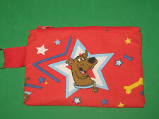 """SCOOBY DOO"" Coin Purse w/ Key Ring -Handmade-Red"