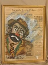 Emmett Kelly painting  1979 by Kyle Simson