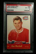 1955 55-56 Parkhurst Don Marshall (35) Rookie Montréal Canadiens PSA 6+ Clean
