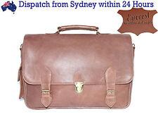 Men's Genuine Leather Handmade Messenger Laptop Bag Business Briefcase CrossBody