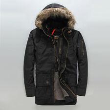 Genuine Superdry British Design Patrol Men Long Hooded Coat Jacket Limited