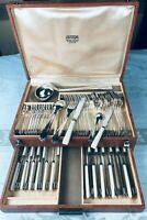 Christofle Alfenide Flatware Lanel DINER SET 61 Pieces Top ART DECO 12 Pers