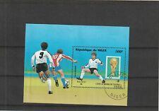 Niger 1986 World Cup Football Championship Mini Sheet CTO