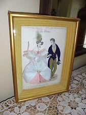 Vintage FRENCH LaMode Illustree  Embellished  - SHADOWBOX~ Real Clothes