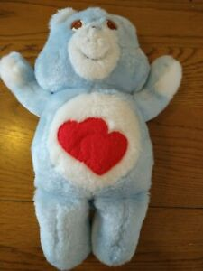 Possible Prototype care bear? Blue, red hearts          B2