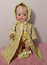 """SSO DOLL CLOTHES: YELLOW FLANNEL 4 pc ROBE SET for 13""""-14"""" BABY DOLL TINY TEARS"""