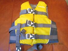 Life Jacket Flotation Aid Stearns 2988 Child Yellow/Gray (Great)