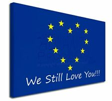 "British Brexit, Europe 'We Still Love You' 30""x20"" Wall Art Can, BRITISH-4-C3020"