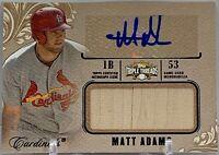 MATT ADAMS 2014 Triple Threads AUTOGRAPH Auto Bat Relic #67/75 Signed Cardinals