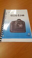 Canon EOS 1dx manuale di istruzioni stampate guida utente 420 pagine a5