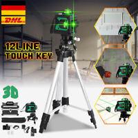 3D 360° 12 Linien Laser Ebene Automatische Selbstnivellierend Kreuzlinienlaser