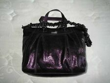 COACH Ltd Ed MADISON TEXTURED METALLIC PURPLE LG CLAIRE TOTE BAG SHOPPER HANDBAG