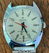 Smart Gents Vintage Stainless Steel Wrist Watch  - Maker ORION - SWISS MADE