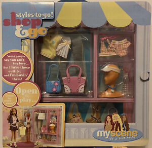 """New! 2004 MY SCENE Doll """"Shop & Go"""" PlaySet  Styles-to-go  Large 13"""" Set"""