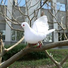 Mini Foam Feather Bird Artificial Wedding Decorative Doves White Bird Home Decor
