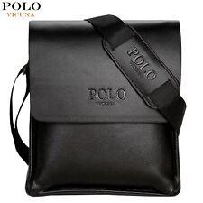 Leather Men Bag VICUNA POLO Casual Business Messenger Crossbody Bag Bolsa Hombre