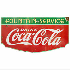 Drink Coca Cola Fountain Service 1930s Style Wall Decal 24 X 13 Distressed