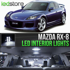 2004-2011 Mazda RX8 White LED Lights Interior Kit Package Bulbs RX-8