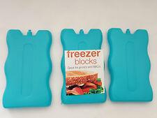 2x no tóxico Congelador Bloque Para Bolsas Cajas De Hielo Nuevo Azul Frío Picnic Almuerzo de viaje