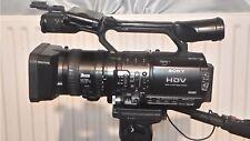 Sony HVR-Z1E Camcorder, TRI-PODS ON WHEELS & BAG,  BATTERIES, GOOD WORKING