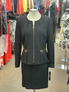 TAHARI BY ARTHUR LEVINE  SKIRT  SUIT/SIZE 16/RETAIL$280/ BLACK/LINED/