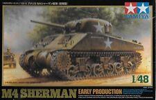 1/48 Tamiya 32505 - US WWII M4 Sherman Tank Early Production  Plastic Model Kit