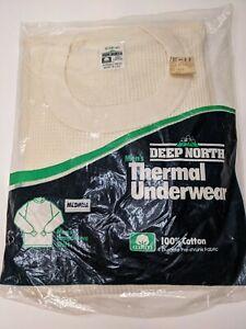 NEW Vtg Deep North Men's Thermal Underwear Long Sleeve Shirt Medium 38-40 USA