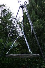 Schwenkgrill Picknick, Holzkohle Grill Dreifuß, Ø 70 cm Dreibein handarbeit
