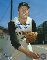 Vern Law, Autographed 8 X 10 1960 Pittsburgh Pirates WS Champ Insc. W/COA