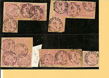 Sachsen / ZWICKAU - BAHNHOF 16 nachverw. K2 auf NDP-Briefstücken m. 1/2 + 1 Gr.