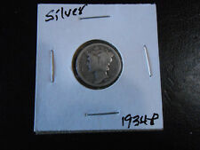 1934 P Mercury Silver Dime circulated #621, You grade it!