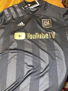 Medium Adidas LA FC Football Club Women's soccer jersey Black $80 NWT YoutubeTV