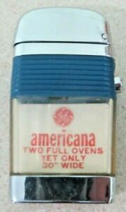 GE americana Two full ovens yet only 30 inches wide VU Scripto lighter