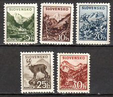 Slovakia - 1940 Definitives landscapes - Mi. 71-75Y (Watermarked) MNH