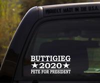Buttigieg 2020 Decal Sticker for Window or Bumper Pete Buttigieg for President