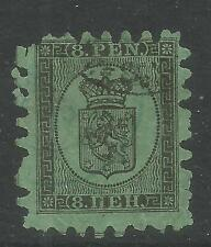 Finland 1866-74 Coat of Arms 8p black on green (7) used