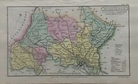 1808 Middlesex Original Antique Hand Coloured County Map 212 Years Old