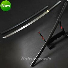 Sharp Folded Steel Japanese Sword Shirasaya Katana Free Sword Bag