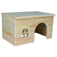 Trixie Wooden House For Guinea Pigs, 28 x 16 x 18cm - Pigs 18cm Tortoise Flat