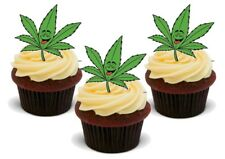 Funny Hash Weed Leaf Stand Up Premium Card Cake Toppers