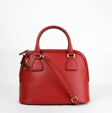 Gucci Red Leather Medium GG Charm Convertible Dome Bag 449662 6420