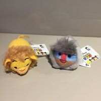 Disney Store Mini Tsum Tsum Plush The Lion King Mufasa Rafiki with Tags