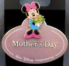 Disney Pin 68902 WDI Name Tag Minnie Mouse Mother's Day Cast Member LE 300