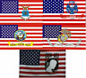 Wholesale Lot 5 3x5 Military USA Branches & POW MIA Hybrid Combo Flags 3'x5' #2