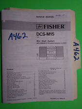 Fisher dcs-m15 service manual original repair book stereo tuner radio system